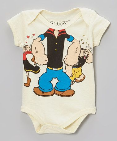 a995828679fb Take a look at this White Popeye Headless Bodysuit by Popeye on ...