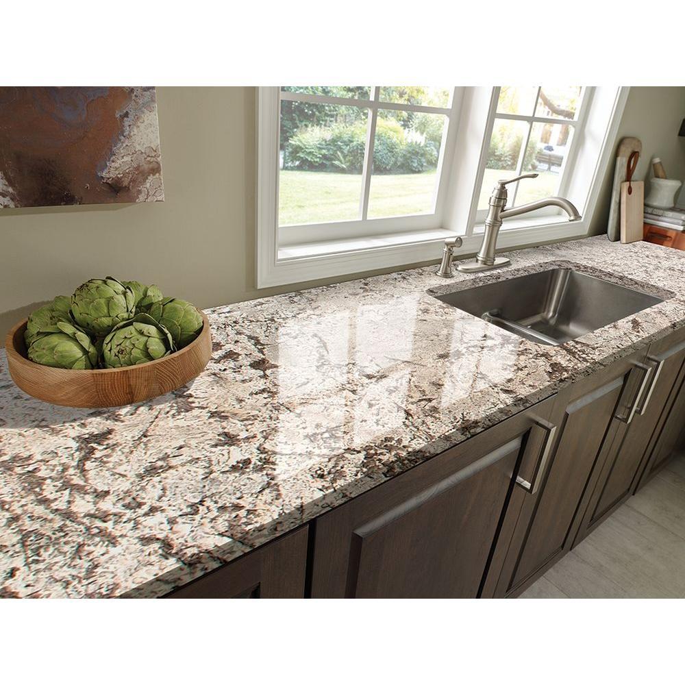 Stonemark 3 In X 3 In Granite Countertop Sample In Bianco Antico Dt G446 The Home Depot Granite Countertops Kitchen Brown Granite Countertops Kitchen Countertops