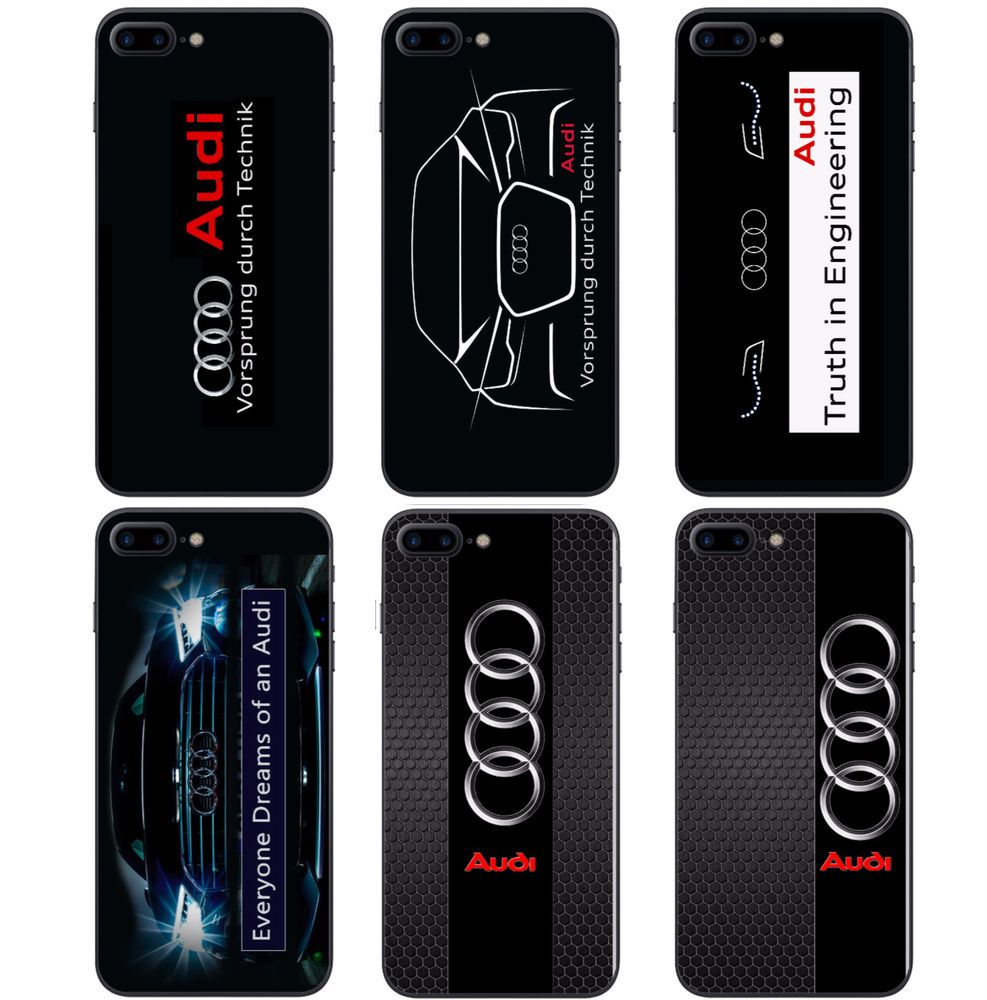 Audi Car Logo Style AUDI hard plastic Phone Cover case For iPhone 5 6 7 Painted #UnbrandedGeneric