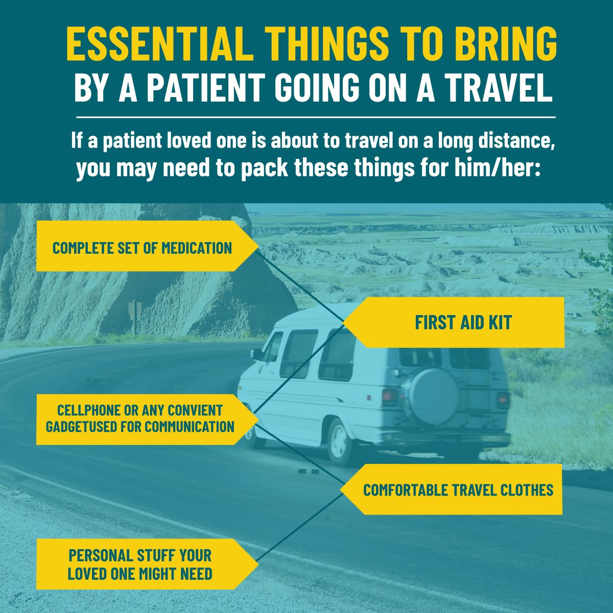 Essential Things to Bring by a Patient Going on a Travel