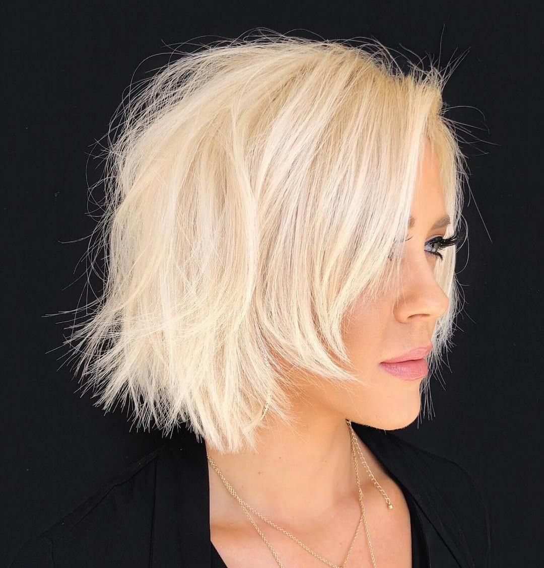 45 Short Hairstyles For Fine Hair Worth Trying In 2020 In 2020 Messy Short Hair Choppy Bob Hairstyles Wavy Bob Hairstyles