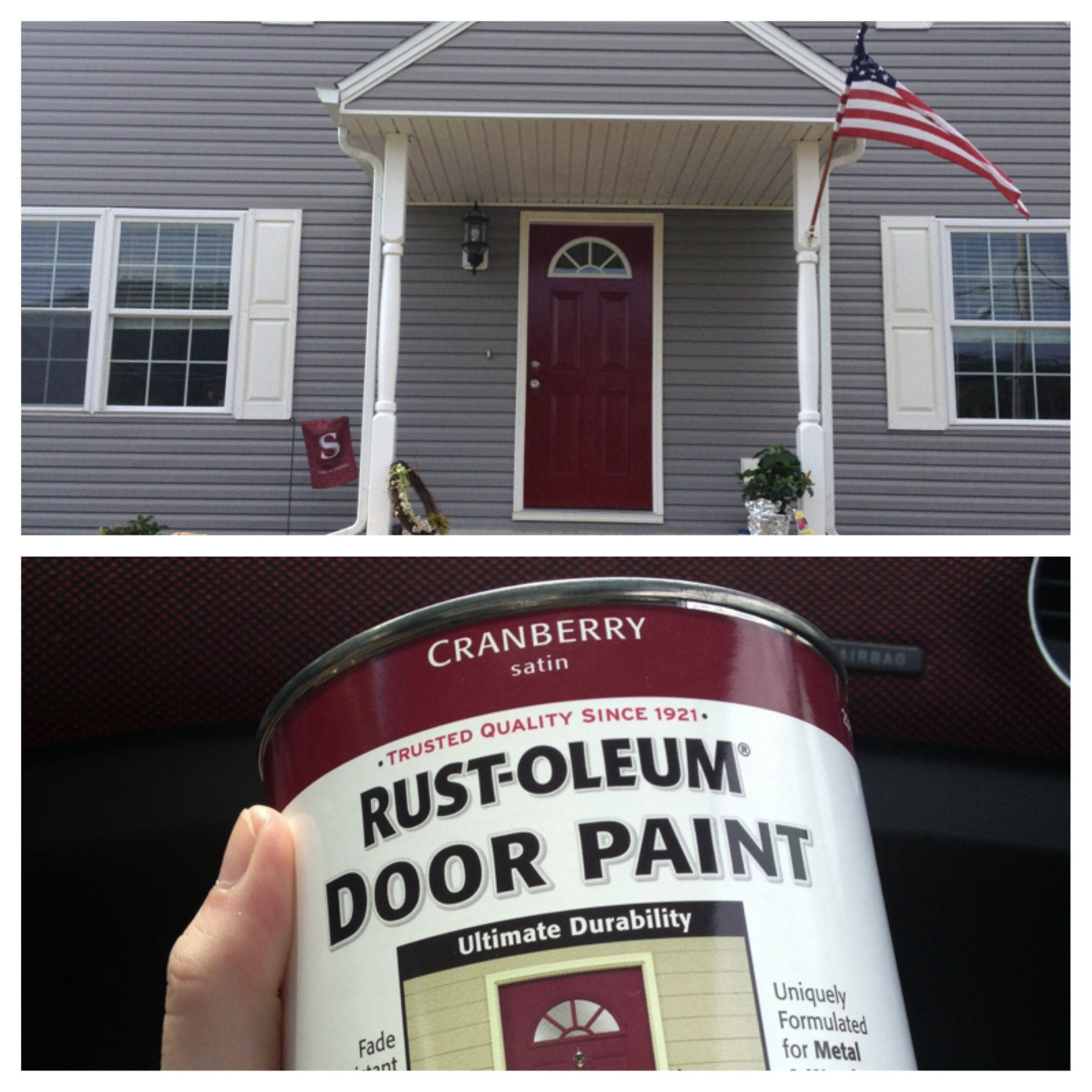 Always wanted a red front door paint is from lowes rust oleum always wanted a red front door paint is from lowes rust oleum cranberry satin baanklon Images