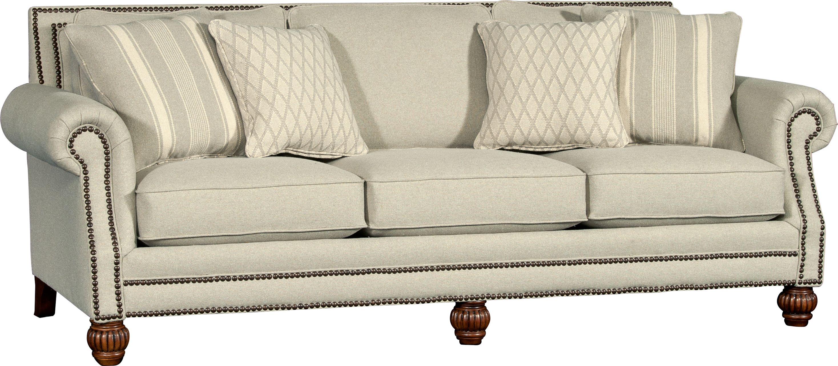 Mayo Furniture 7240F Fabric Sofa Madeline Glacier
