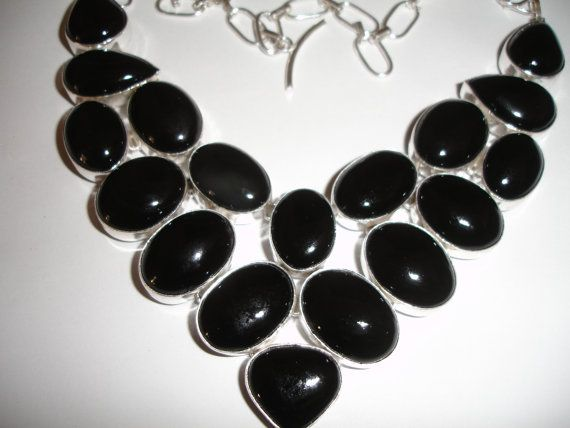 Black Onyx  Necklace by SupplyWizard on Etsy, $45.00