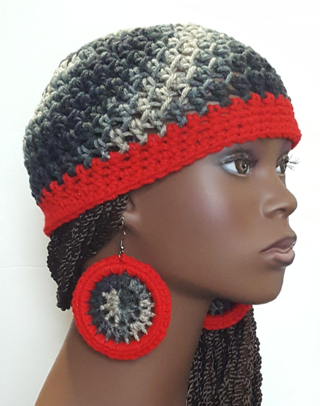Crochet Beanie Skull Cap With Earrings By Razonda Lee Crochet