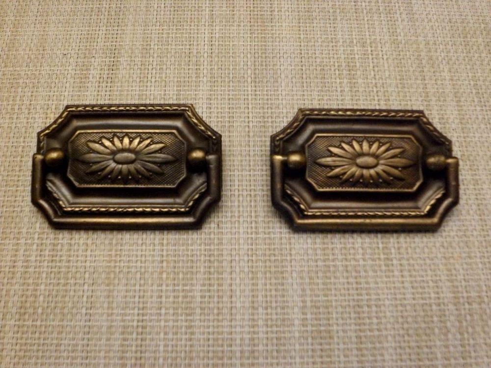 x1 Floral Vintage Design Glass Door Knob Cabinet Drawer Handle