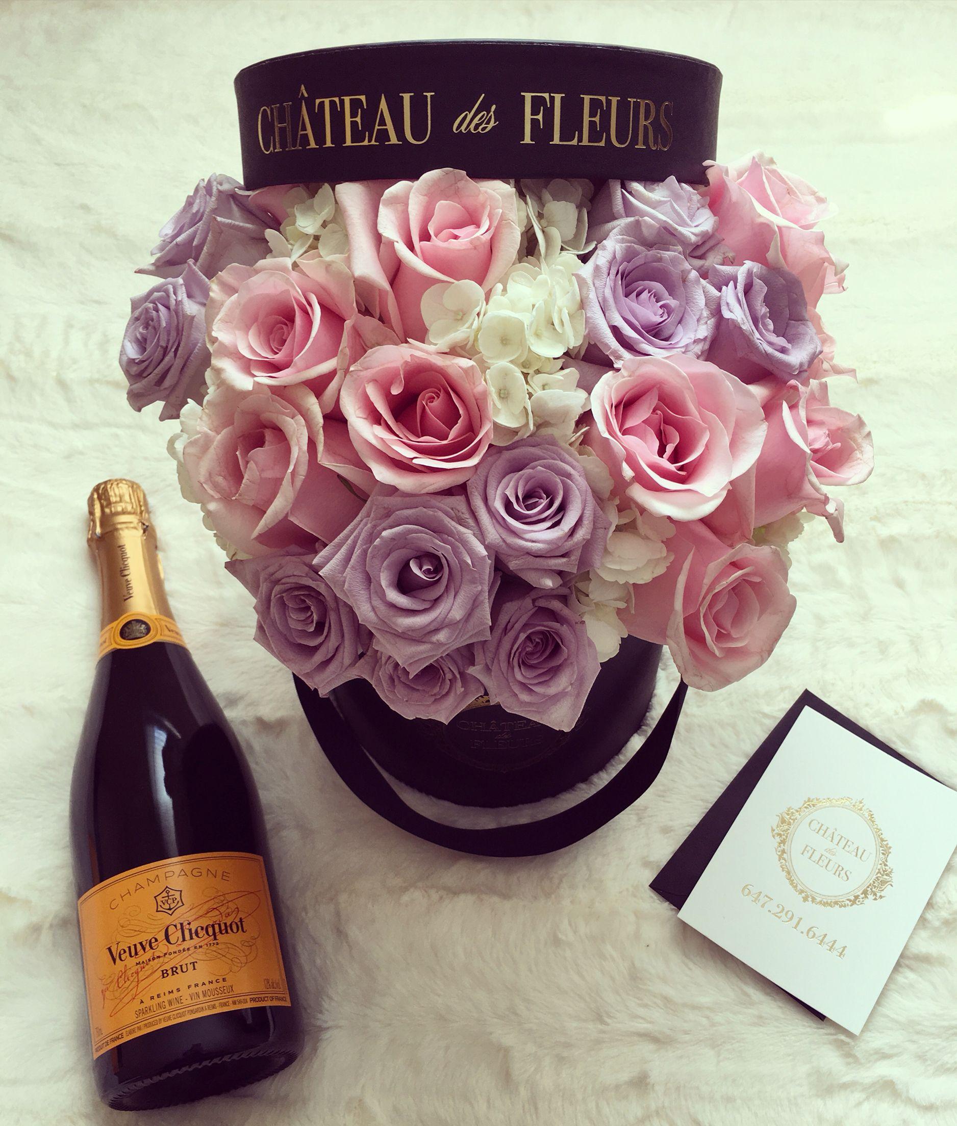 Wedding Flowers In A Box: Bridal Shower Flowers. Custom Arrangement. Flowers In A