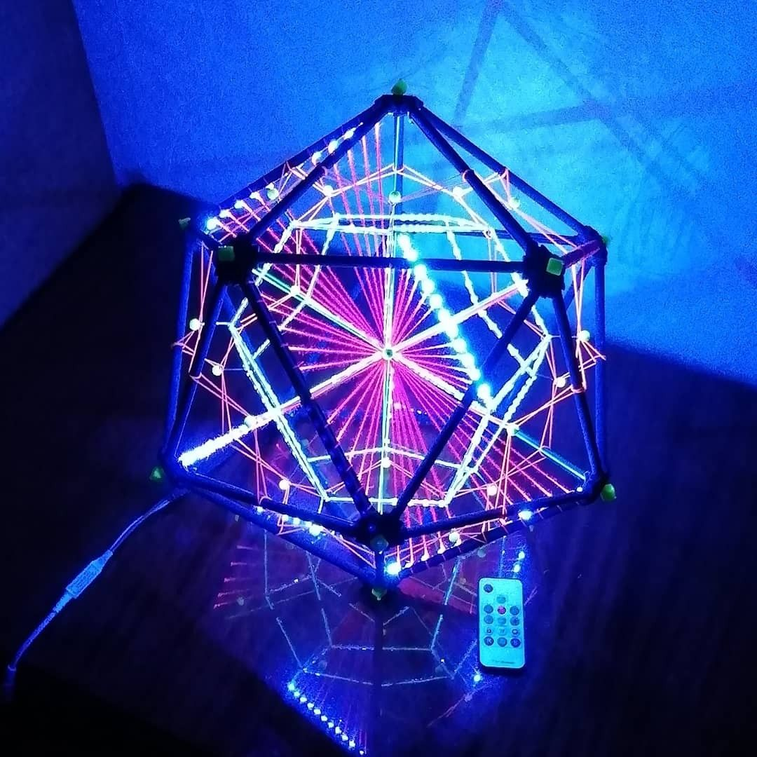 Led Rgb Pixel Decorative Icosahedron Lighting Art Object For Psychedelic Night Events And Parties Multidimensional Sacred Geometry Decor V 2020 G