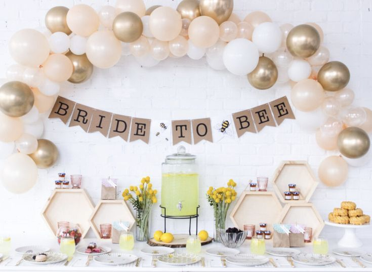 Bride to Bee Decorations /Bee Themed Shower/Bee Bridal Shower/Bridal Shower Decorations/Bride To Bee Banner/Balloon Garland/Balloon Arch Kit