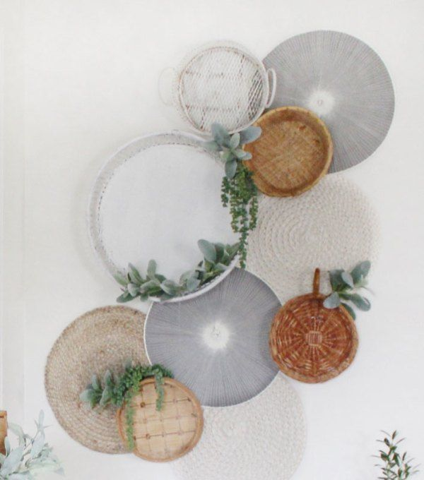 Photo of DIY Basket and Placemat wall decor