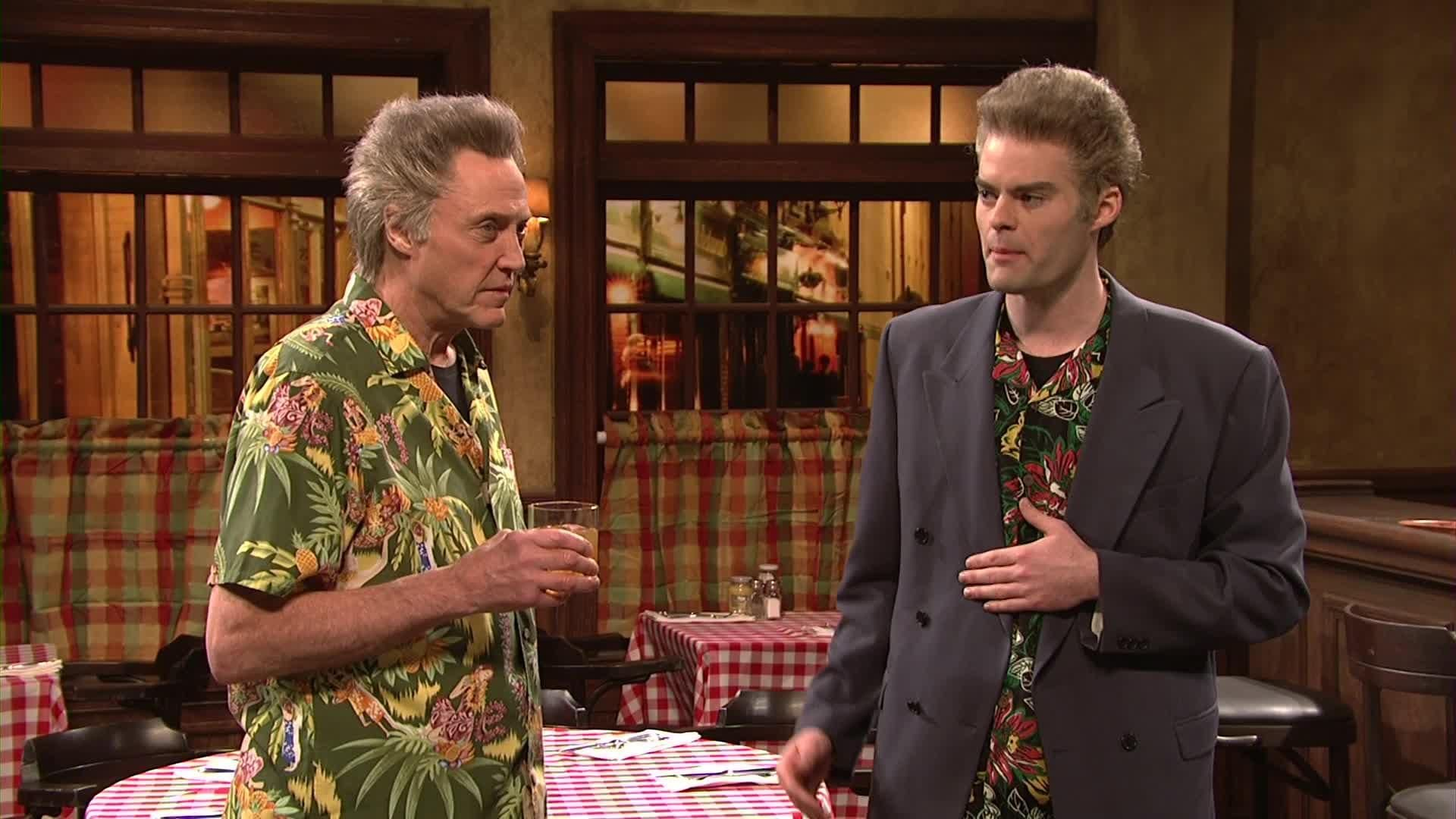 Saturday Night Live Tbt Amy Poehler And Bill Hader Attend A Walken Family Reunion Saturday Night Live Walken Amy Poehler