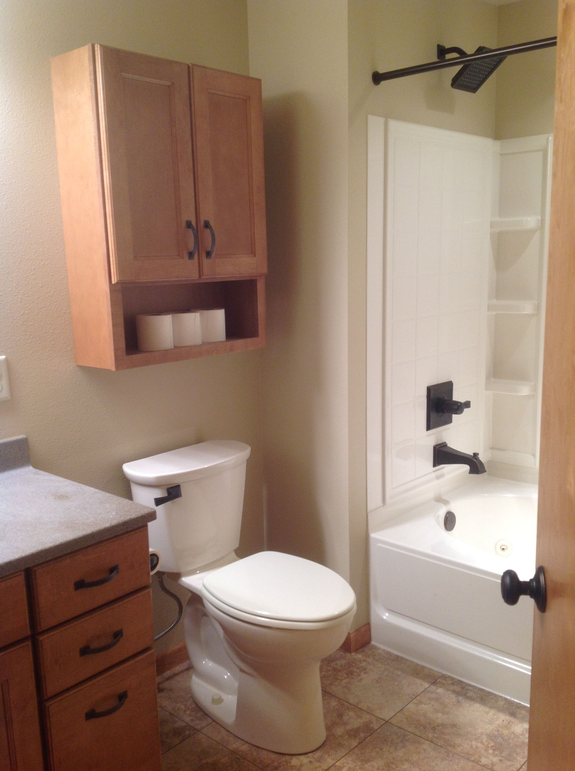 Updated bath with new counters, cabinetry, toilet, whirlpool bathbay ...