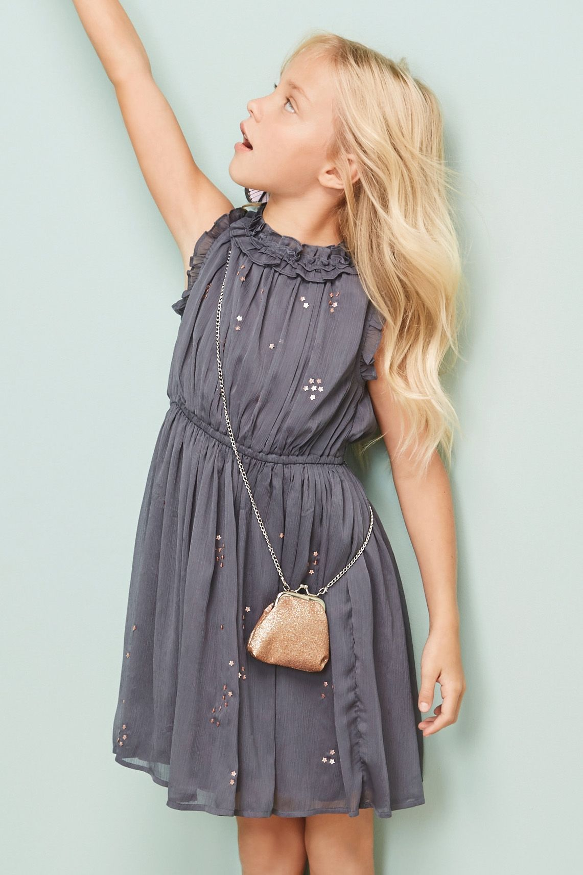 Buy charcoal star sequin dress 316yrs from next