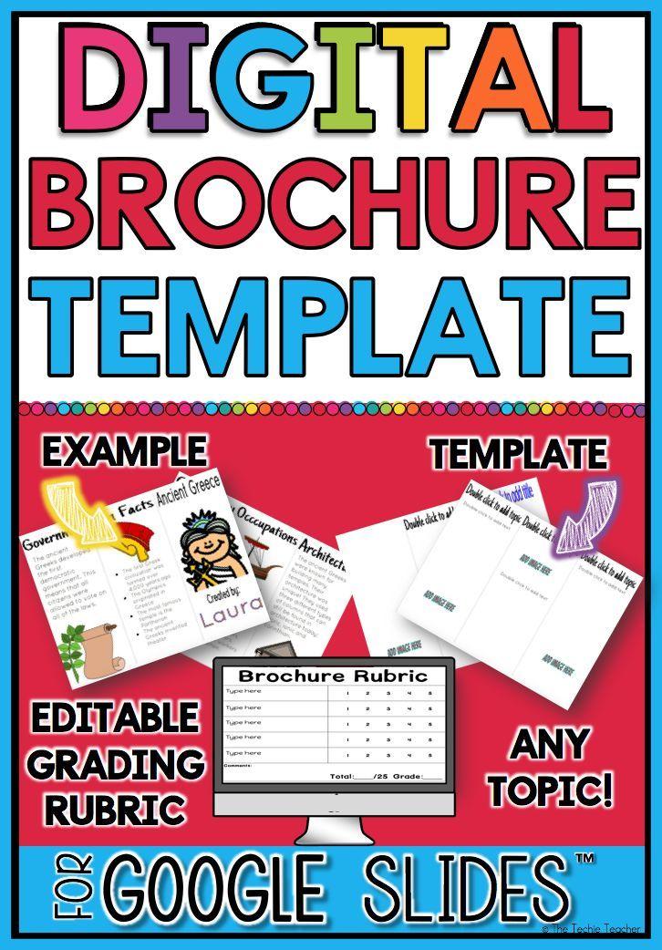 digital brochure in google slides pinterest brochure template