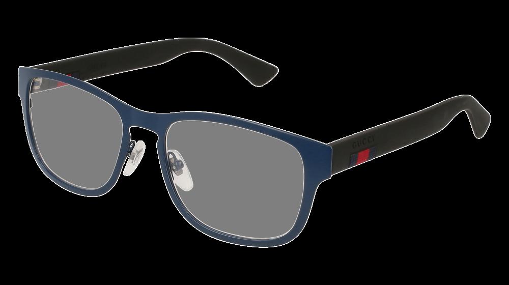 57f3299f489 Gucci - GG0175O-003 Blue Black Eyeglasses   Demo Lenses