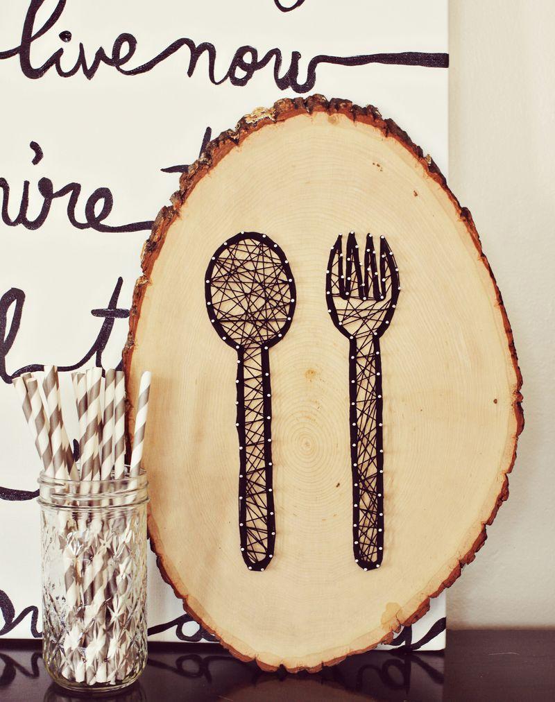 23 Artistic DIY String Art Home Decors | Kitchen wall art, Diy ...