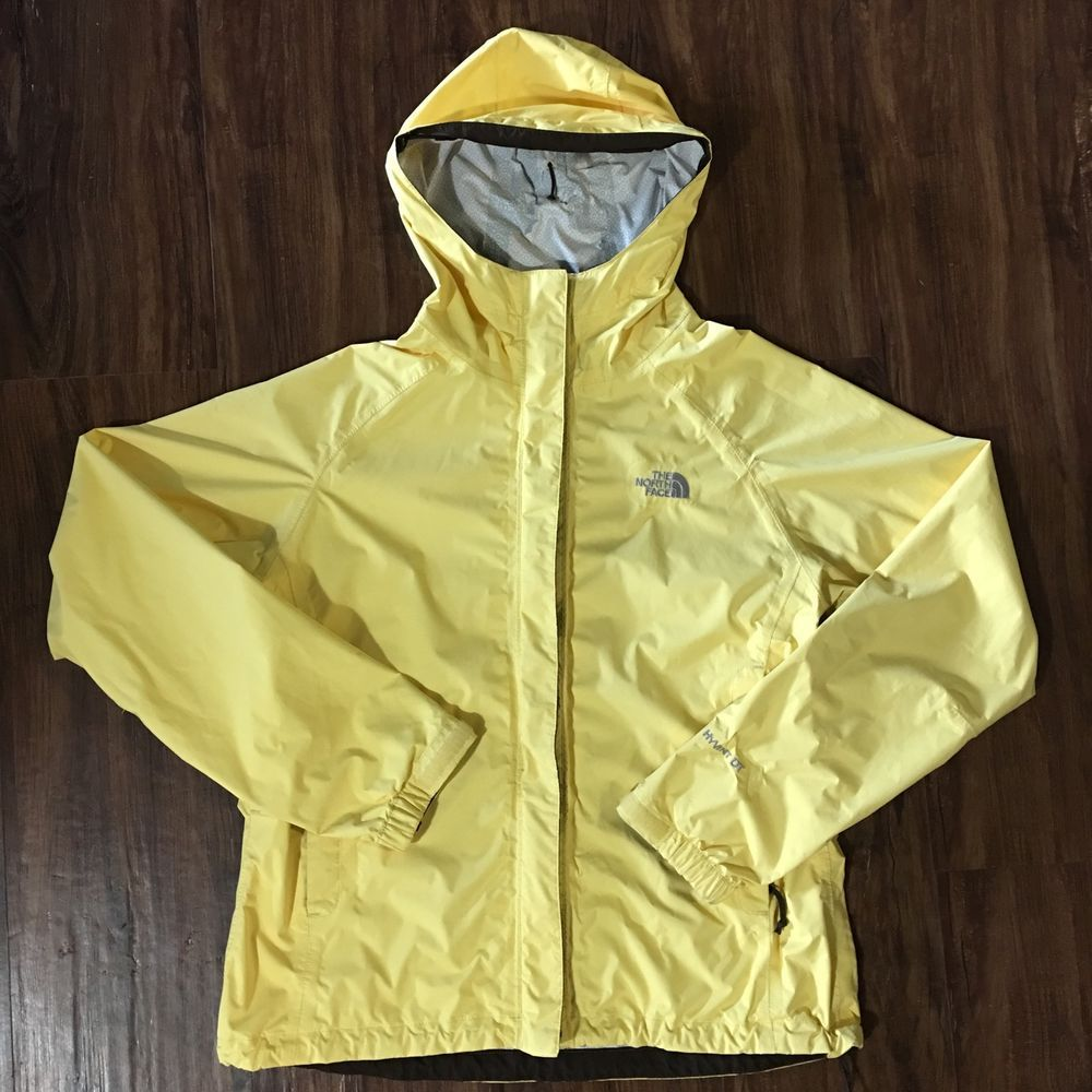 f20c25edb Womens The North Face Hyvent DT Hooded Rain Jacket Coat Yellow ...