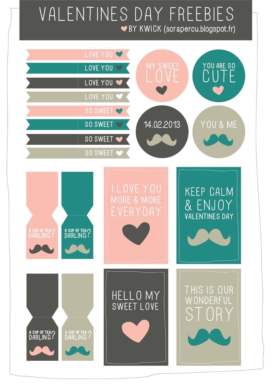 25 Free Valentine\'s Day Printables | Printables | Pinterest ...