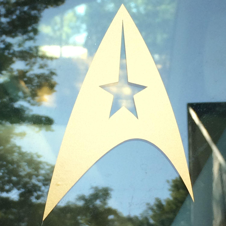 Star Trek Voyager Comm Badge Insignia Vinyl Car Laptop Decal In 2021 Personalized Decals Star Trek Voyager Vinyl Wall Decals [ 1000 x 1001 Pixel ]