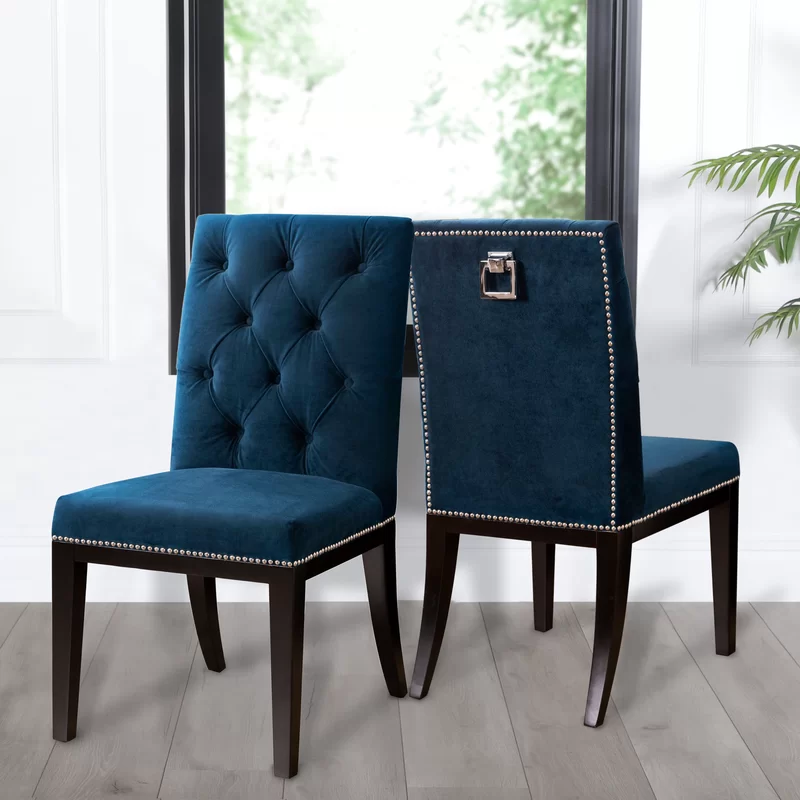 Ingersoll Upholstered Dining Chair In 2020 Dining Room Blue Dining Chairs Tufted Dining Chairs