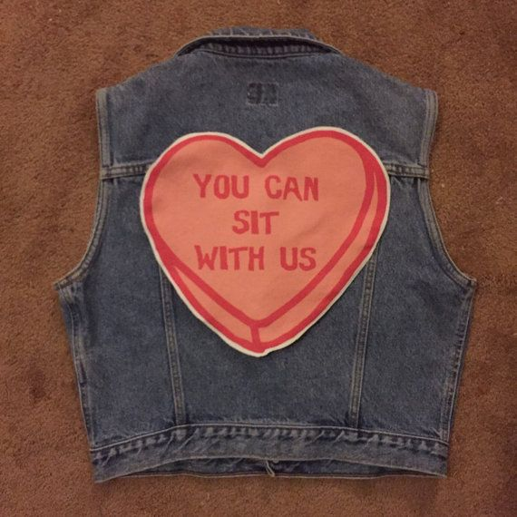 Hey, I found this really awesome Etsy listing at https://www.etsy.com/listing/274450300/large-you-can-sit-with-us-back-patch