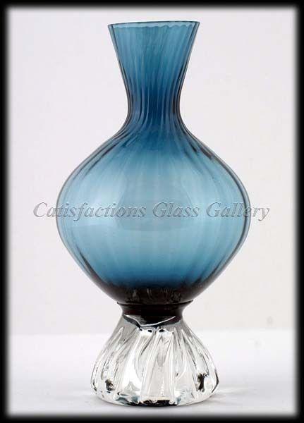 Stunning Blue Aseda Scandinavian Art Glass Vase 45 Scandinavian Art Glass Art Vase