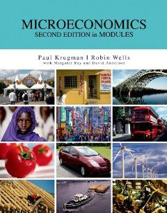 Microeconomics in Modules by Paul Krugman. $19.74. Publication: May 6, 2011. Publisher: Worth Publishers (May 6, 2011). Paperback: 471 pages Publisher: Worth Publishers (May 6, 2011) Language: English ISBN-10: 1429287306 ISBN-13: 978-1429287302 Product Dimensions: 10.7 x 8.4 x 1 inches Shipping Weight: 2.4 pounds                                                         Show more                               Show less