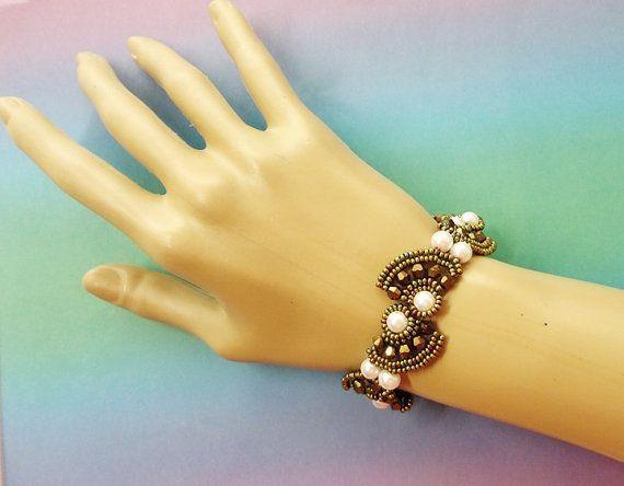 TAIPAI beaded bracelet beading tutorial beadweaving pattern seed bead beadwork jewelry beadwe... TAIPAI beaded bracelet beading tutorial beadweaving pattern seed bead beadwork jewelry beadweaving tutorials beading pattern instructions,