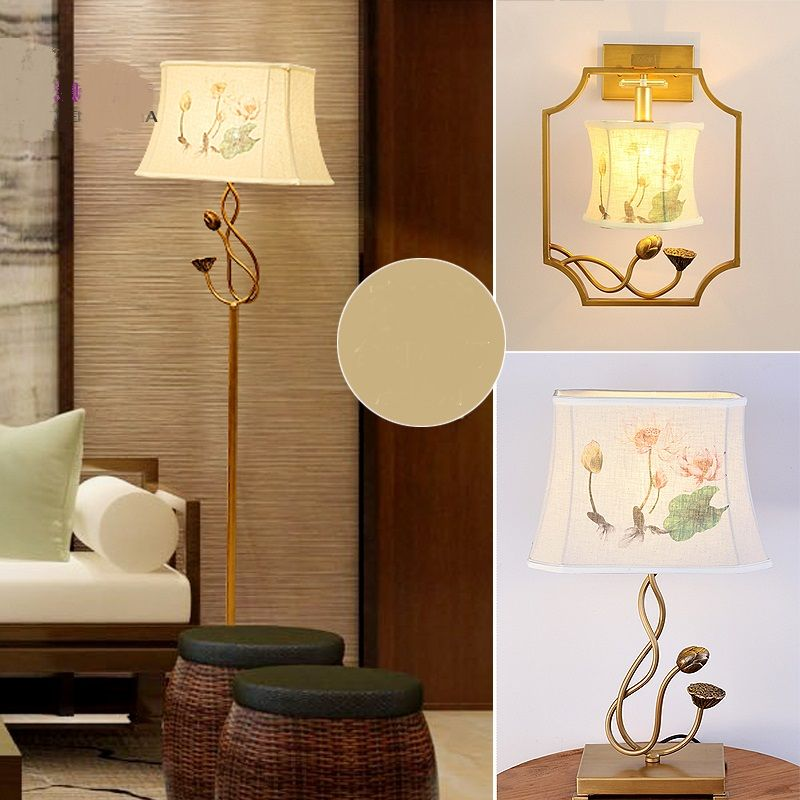 Chinese Style Floor Lamps Bedroom Living Room Lamp Lights Retro