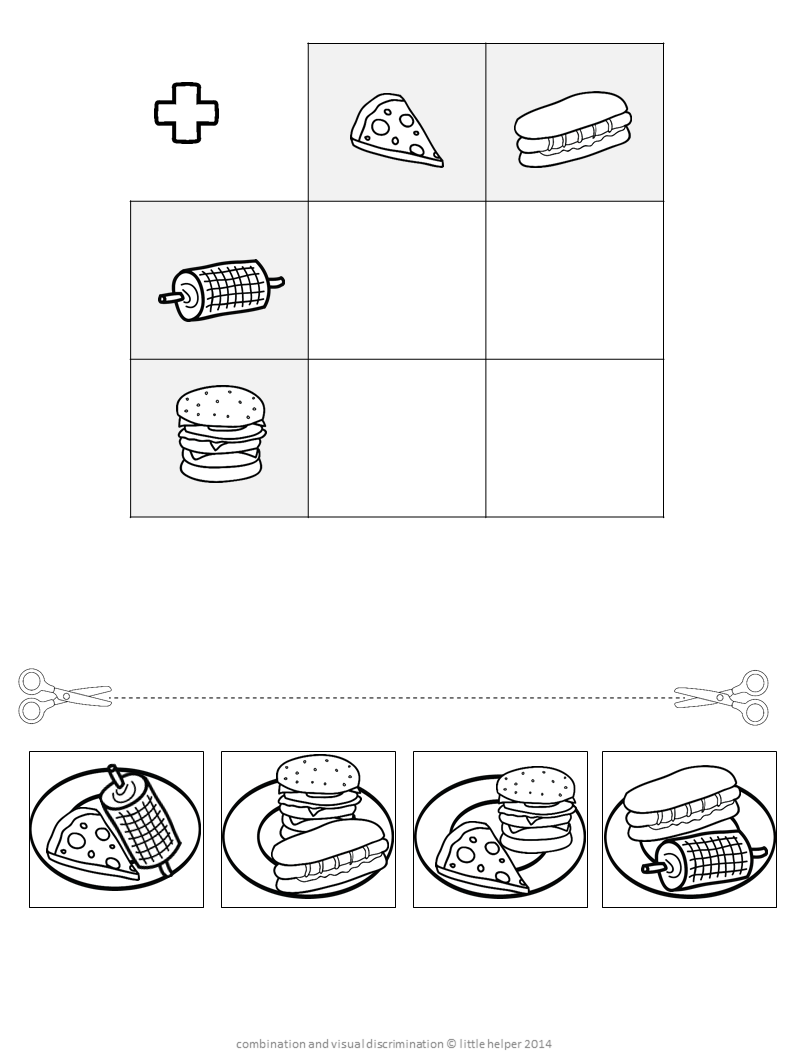 Cut and paste combination concentration | Arbeitsblätter, Lernen und ...