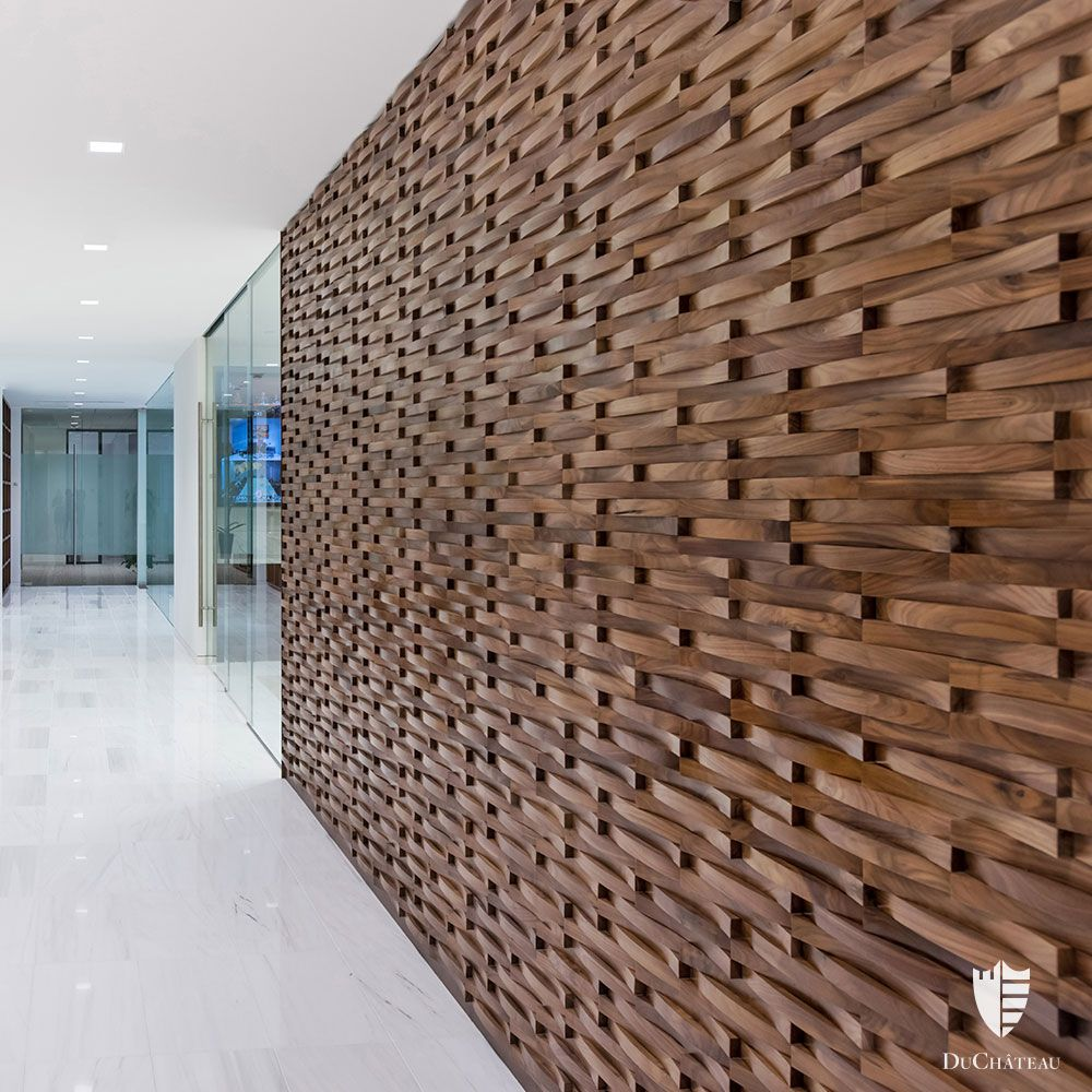 Krescent Wall Coverings By Duchateau Wallcoverings Wood Woodtile Artwall Wood Wall Covering Wall Covering Ideas Panelling Wood Wall Design