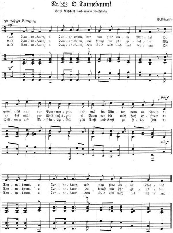 O Tannenbaum Sheet Music German Christmas Christmas Carol Christmas Tree