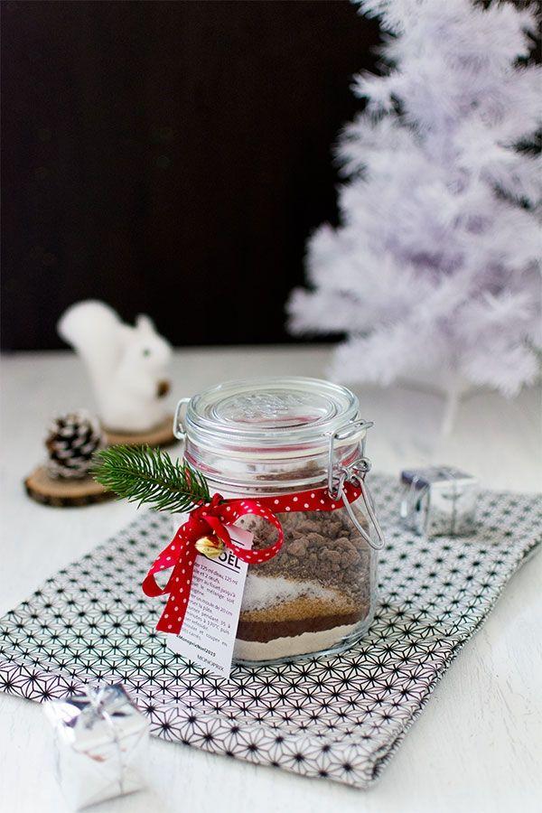 Bocal cadeau recette brownies
