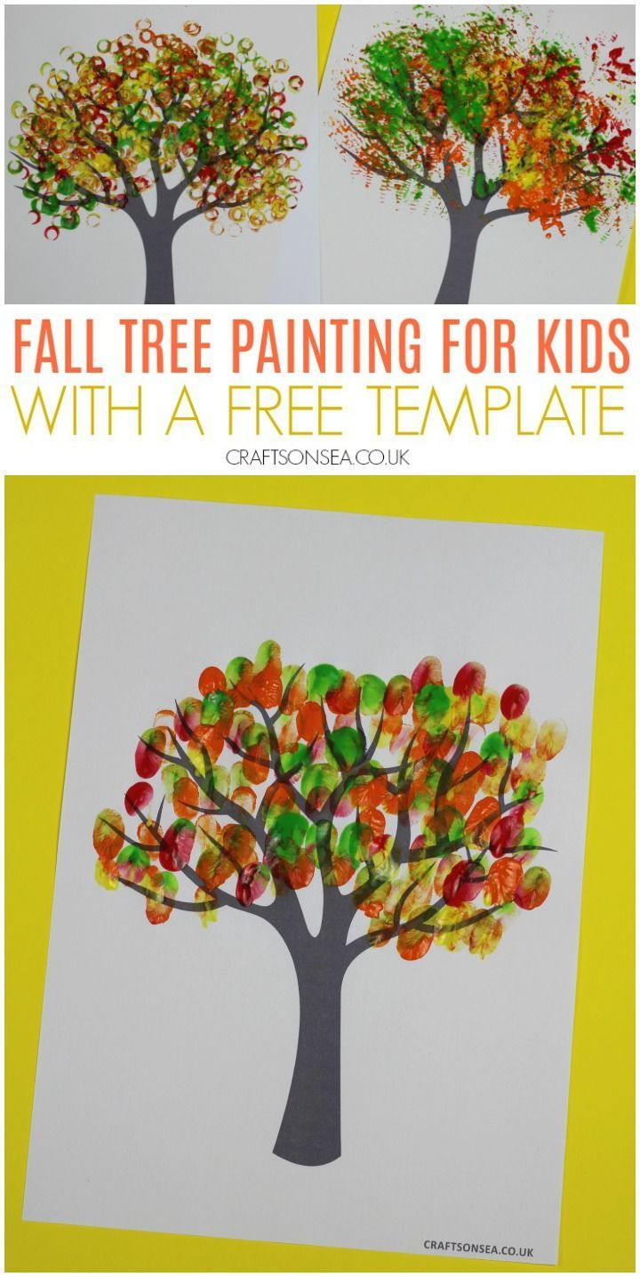 Autumn Tree Painting Ideas for Kids #falltrees