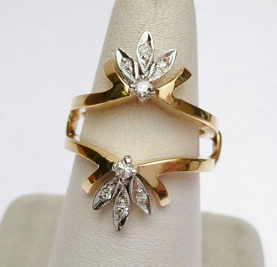 Hey, I found this really awesome Etsy listing at https://www.etsy.com/listing/183820230/14k-diamond-wedding-guard-ring