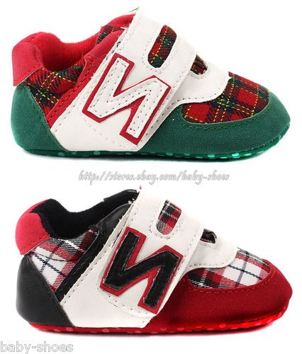 bab98e57993 Toddler Baby Boy Plaid Walking Shoes Soft Sole Sneaker Size Newborn to 18  Months