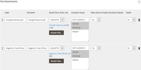 Magento 2 Product Files And Attachments Extension