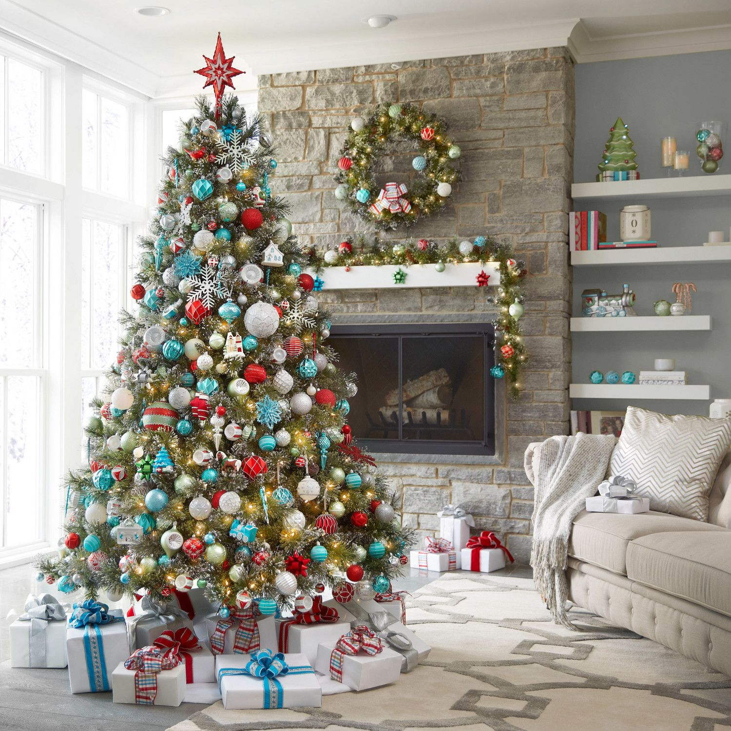Martha S Countdown To Thanksgiving Home Depot Christmas Decorations Teal Christmas Decorations Christmas Tree Decorations