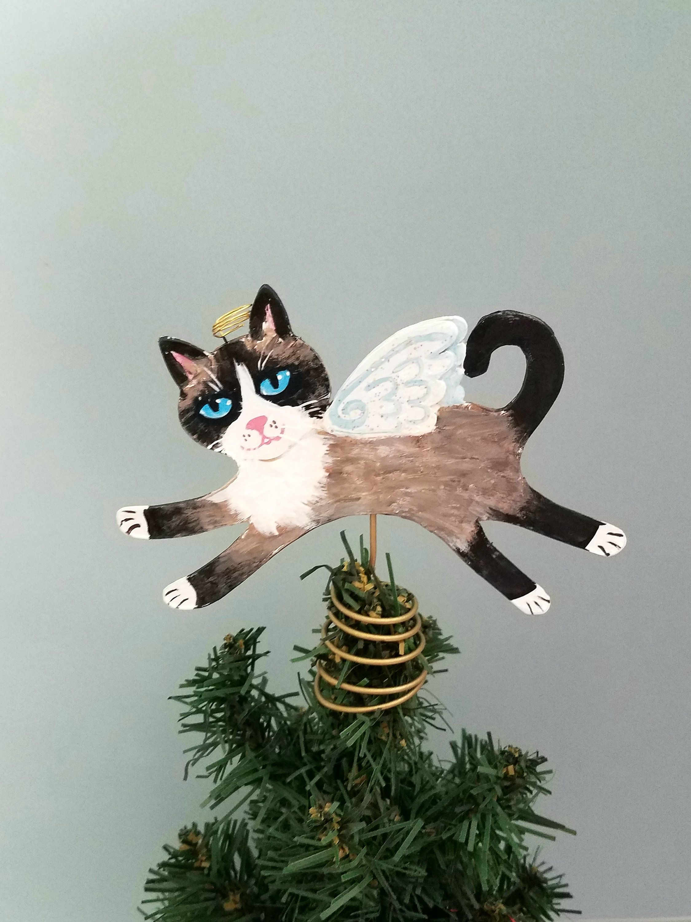 Snowshoe Cat Tree Topper  Cat Christmas Tree Topper