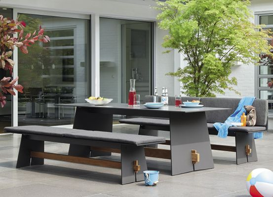 garpa garden furniture shop oktav table 220 cm - Garden Furniture Table Bench Seat