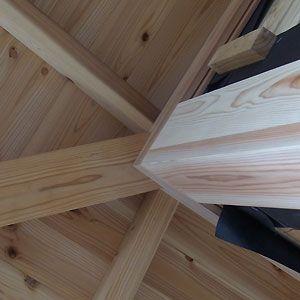 隅柱と付桁 垂木との納まり 家 家を建てる 木造建築