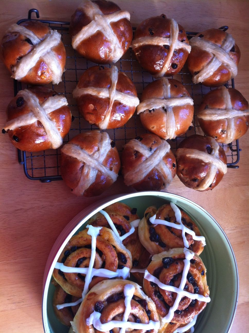 Hot cross buns ready for the pop up shop