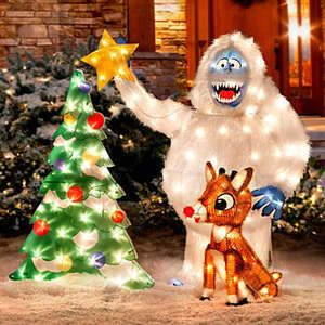 Lighted Rudolph Bumble Outdoor Christmas Yard Decor | eBay ...