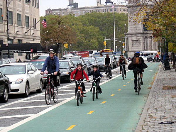 SURPRISE APPLAUSE LINE: 'PROTECTED BIKE LANES'
