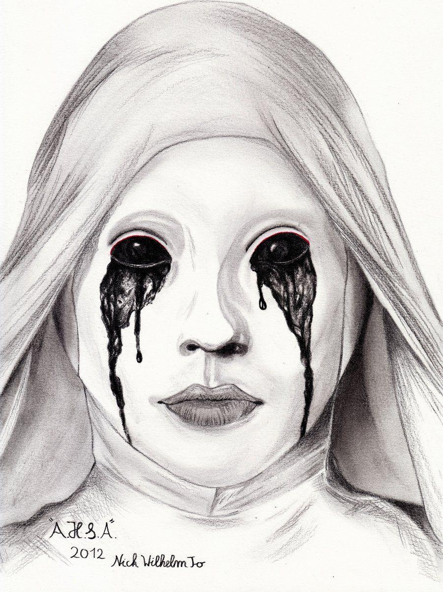 Ahs asylum ahs american horror story horror drawing