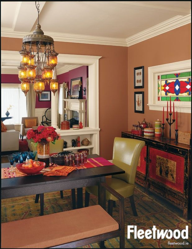 Dining Room Painted In Fleetwood S Soft Chestnut Available From The Popular Colours Range Dining Room Paint Dining Room Colors Dining Room Paint Colors #warm #living #room #wall #colors