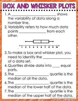 Box And Whisker Plot Digital Math Notes Math Notes Math Interactive Notebook Math Lesson Plans