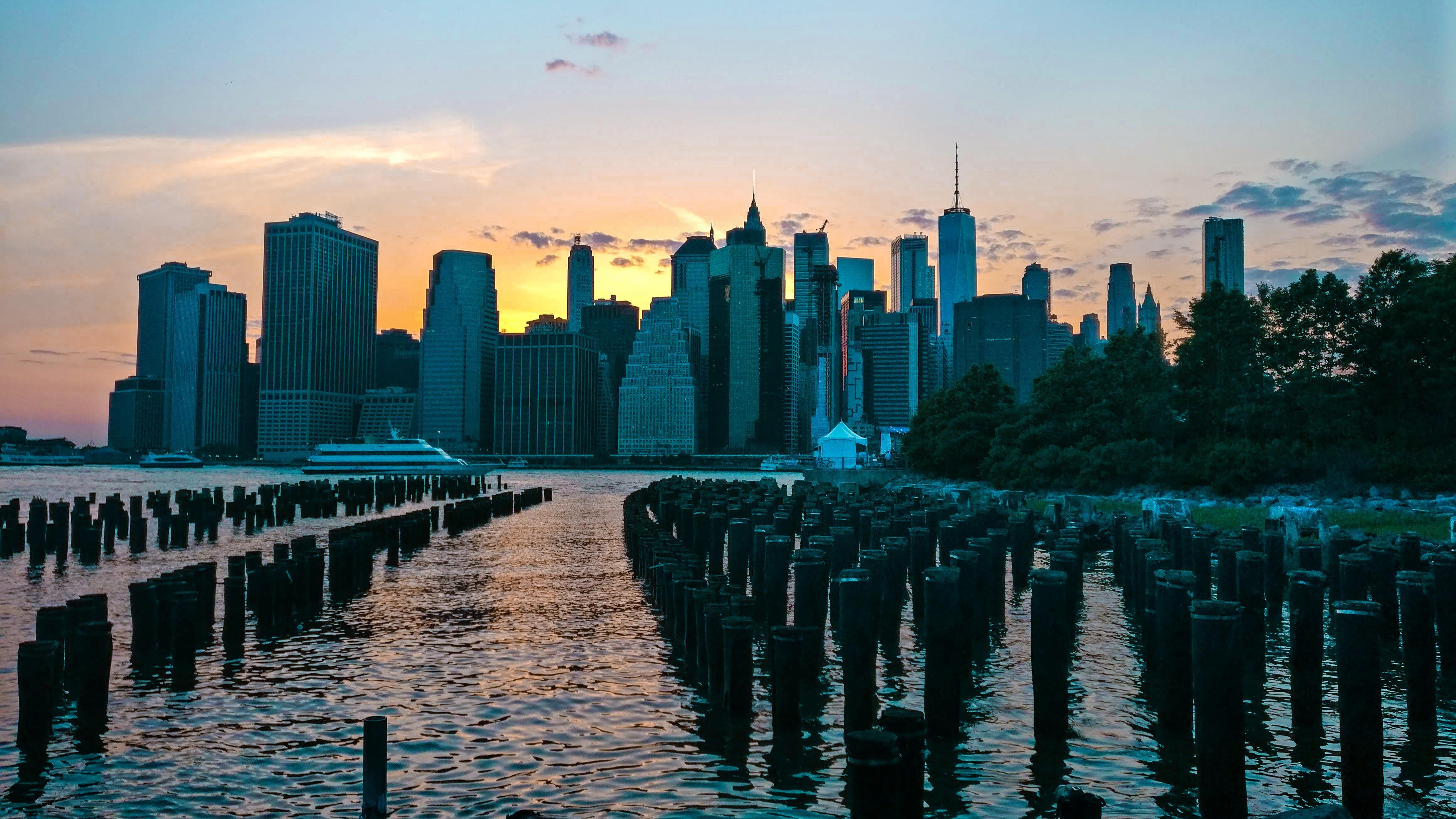 Brooklyn Bridge Park June 18 Oc 3840x2160 Brooklyn Bridge Park Manhattan Times Square Bridge Wallpaper