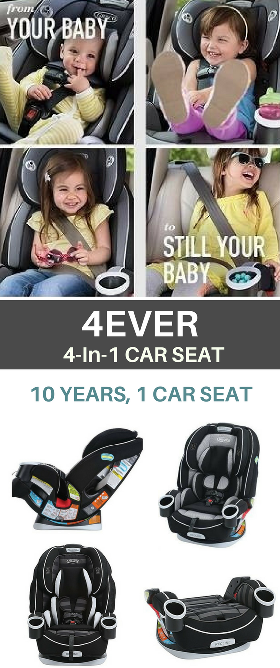 4Ever All In 1 Convertible Car Seat That You Can Use For Up To 10 From Rear Facing Infant Forward High Back Booster And Backless