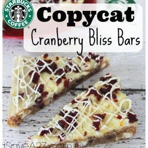 Copycat Starbucks Cranberry Bliss Bars - Print